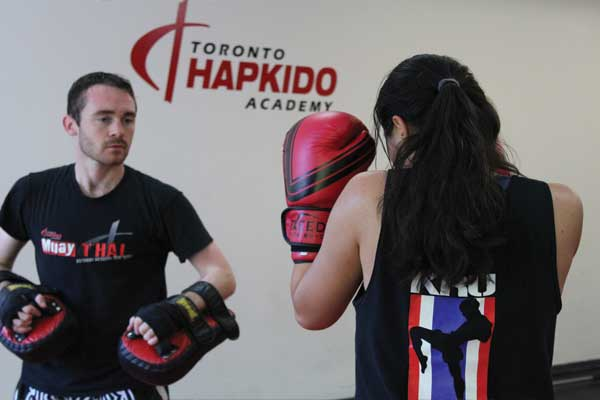pad holding for muay thai
